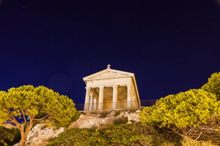 Chapel on Frioul archipelago. Marseille, Provence-Alpes-Cote d'Azur, France.