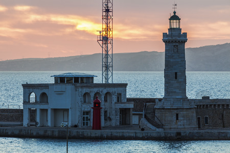 marseille: Lighthouse in Marseille. Marseille, Provence-Alpes-Cote dAzur, France. Stock Photo