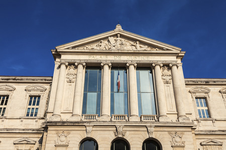 alpes maritimes: Courthouse in Nice. Nice, French Riviera, France.