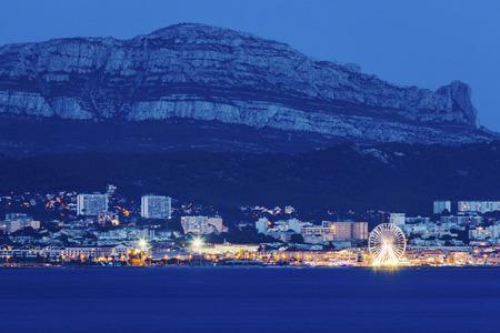 d'azur: Marseille panorama from Frioul archipelago. Marseille, Provence-Alpes-Cote dAzur, France.