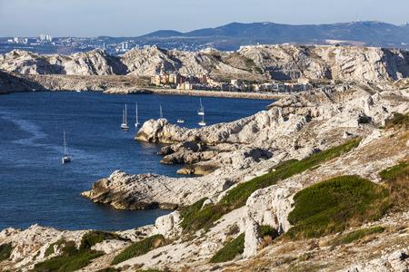 d'azur: Landscape of Frioul archipelago. Marseille, Provence-Alpes-Cote dAzur, France.
