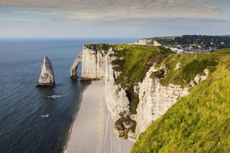 normandy: Natural Cliffs in Etretat. Etretat, Normandy, France