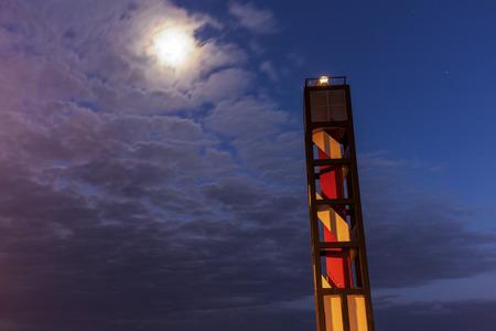 Puerto de la Cruz Lighthouse. Puerto de la Cruz, Tenerife, Canary Islands, Spain.