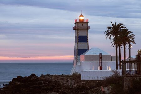 marta: Santa Marta Lighthouse in Cascais. Cascais, Lisbon, Portugal.