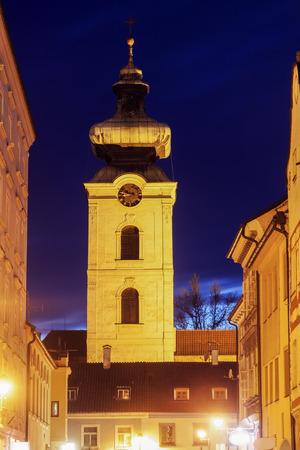Convent in Ceske Budejovice. Ceske Budejovice, South Bohemia, Czech Republic.