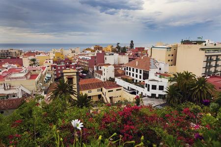 Panorama of Puerto de la Cruz. Puerto de la Cruz, Tenerife, Canary Islands, Spain. Stock Photo