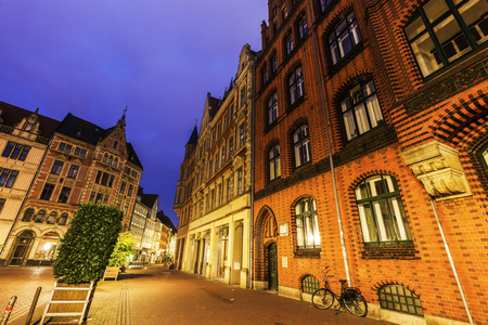old town hall: Old Town Hall of Hanover at night. Hanover, Lower Saxony, Germany.