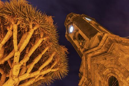 Church of Our Lady of the Rock of France in Puerto de la Cruz. Puerto de la Cruz, Tenerife, Canary Islands, Spain.