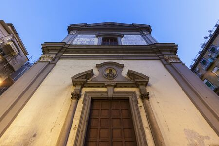 Church in Naples at sunset. Naples, Campania, Italy