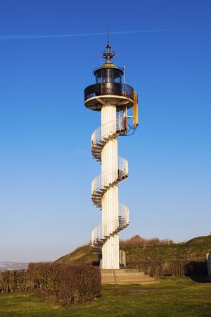 Cap dAlprech lighthouse. Berck, Nord-Pas-de-Calais-Picardy, France.