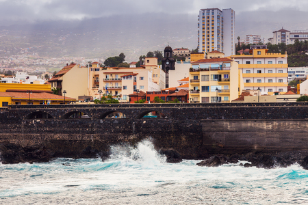 Puerto de la Cruz panorama. Tenerife, Canary Islands, Spain.