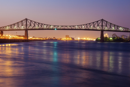 Jacques Cartier Bridge in Montreal. Montreal, Quebec, Canada. Stock Photo