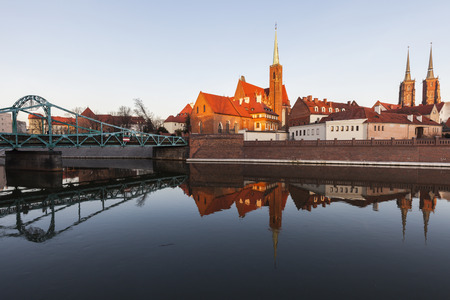 Wroclaw Cathedral and Collegiate Church. Wroclaw, Lower Silesian, Poland. Stock Photo