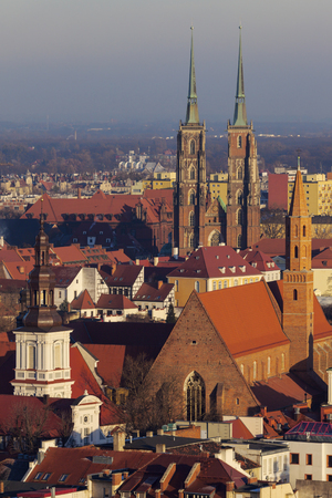 Wroclaw Cathedral - aerial photo. Wroclaw, Lower Silesian, Poland.