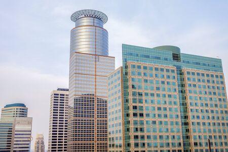Skyscrapers in Minneapolis. Minneapolis, Minnesota, USA.