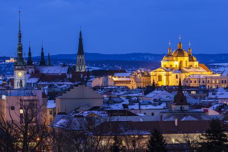 オロモウツのパノラマ。オロモウツ、チェコ共和国オロモウツ地方。 写真素材
