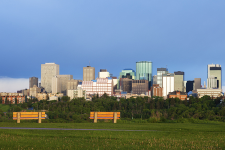 Morning panorama of Edmonton. Edmonton, Alberta, Canada. Stock Photo