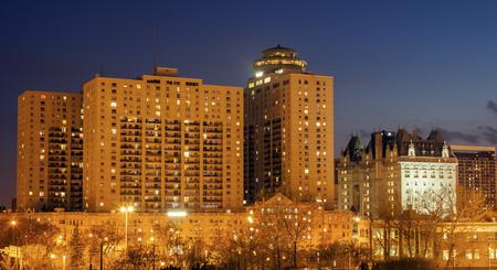 Skyline of Winnipeg. Winnipeg, Manitoba, Canada.
