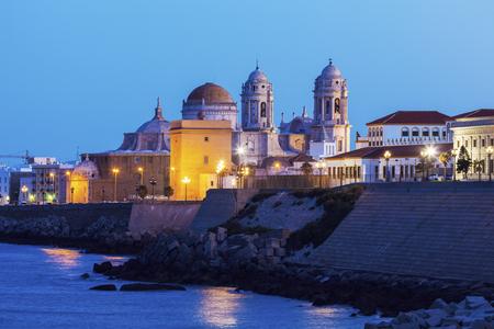 카디스 성당. 카디 스, 안달루시아, 스페인입니다.
