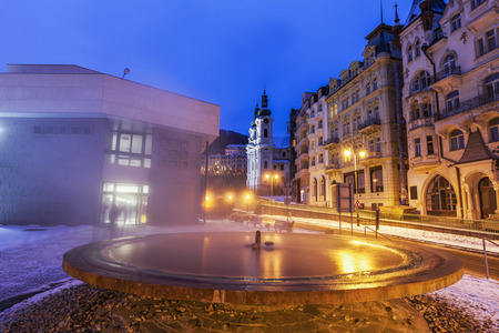 Hot Springs in Karlovy Vary Karlovy Vary (Carlsbad), Bohemia, Czech Republic.