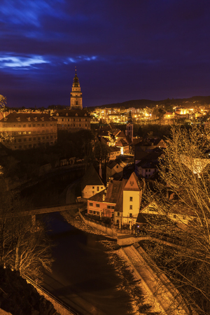 Beautiful Cesky Krumlov. Cesky Krumlov, South Bohemia, Czech Republic. 版權商用圖片