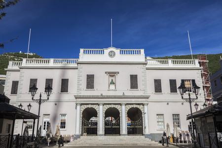 Gibraltar Parliament on John Mackintosh Square. Gibraltar.