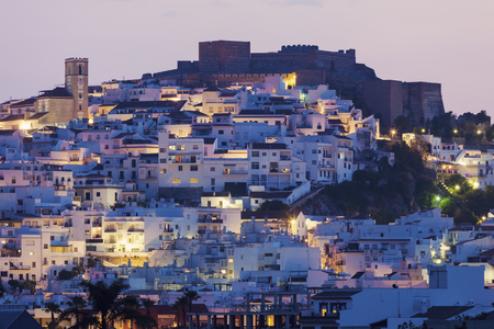 Architecture of Salobrena at evening. Salobrena, Andalusia, Spain.