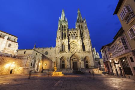 플라자 드 산 페르난도에 부르 고 대 성당입니다. 부르 고 스, 카스 티 야와 레온, 스페인.