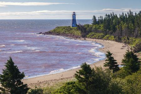 Cape Jourimain Lighthouse in Nova Scotia. New Brunswick, Canada.