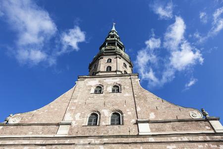 St. Peter Church in Riga. Riga, Latvia 版權商用圖片