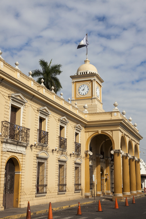 City Hall of Santa Ana. Santa Ana, El Salvador. 스톡 콘텐츠
