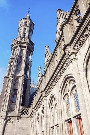 Historium building on the Grote Markt in Bruges. Bruges, Flemish Region, Belgium. Stock Photo