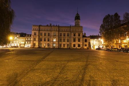 Kazimierz old town hall on Wolnica Square in Krakow. Krakow, Malopolskie, Poland.