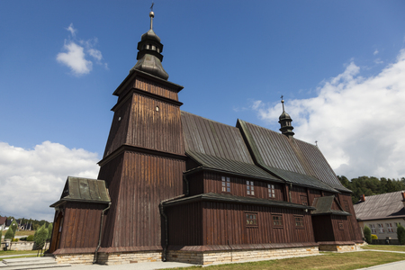 Wooden Church in Jastrzebia. Jastrzebia, Malopolskie, Poland.