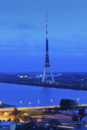 Riga Radio and TV Tower. Riga, Latvia.