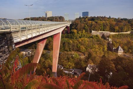 Bridge in Luxembourg City. Luxembourg City, Luxembourg.