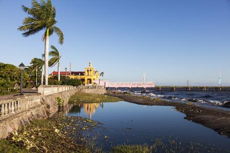 Pier in Granada and Lake Cocibolca. Granada, Nicaragua.