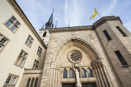 Notre Dame Cathedral in Luxembourg. Luxembourg City, Luxembourg. Stockfoto