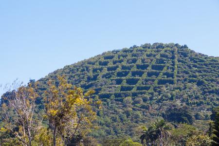 Cerro visto desde Apaneca, El Salvador. Apaneca, Ahuachapan, El Salvador.