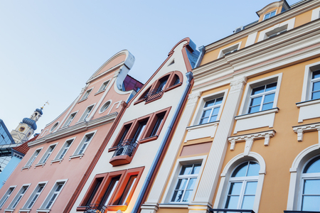 Colorful architecture of Riga old town. Riga, Latvia