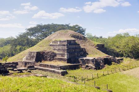 Ruinas de San Andrés en El Salvador. La Libertad, El Salvador.