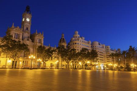 Valencia City Hall on Plaza del Ayuntamiento in Valencia. Valencia, Valencian Community, Spain.