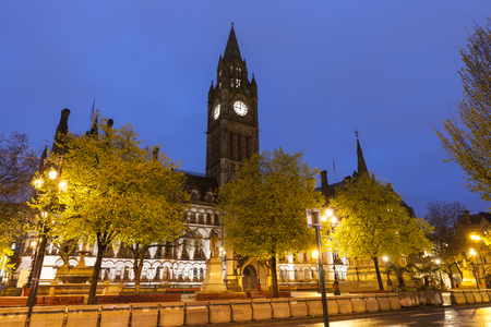 Manchester Town Hall. Manchester, North West England, United Kingdom. 스톡 콘텐츠