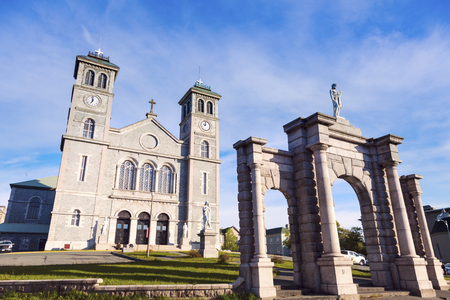 The Basilica Cathedral of St. John the Baptist in St. John's, Newfoundland. St. John's, Newfoundland and Labrador, Canada. Stock Photo