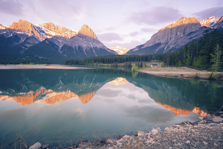 Sunset in Banff National Park. Alberta, Canada.
