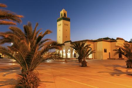 Moulay Abd el Aziz Mosque in Laayoune. Laayoune, Western Sahara, Morocco.