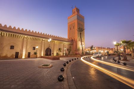 Kasbah Mosque in Marrakesh. Marrakesh, Marrakesh-Safi, Morocco. Standard-Bild - 121186472