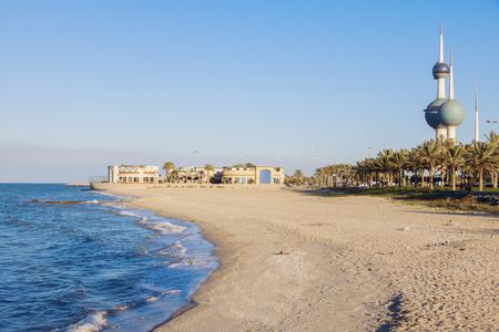 Beach in Kuwait City. Kuwait City, Kuwait. Reklamní fotografie