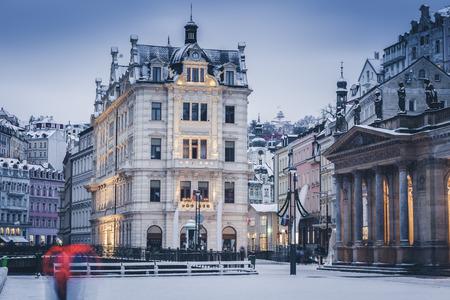 Mill Colonnade in Karlovy Vary. Karlovy Vary (Carlsbad), Bohemia, Czech Republic.