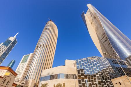 Modern architecture of Kuwait City. Kuwait City, Kuwait.